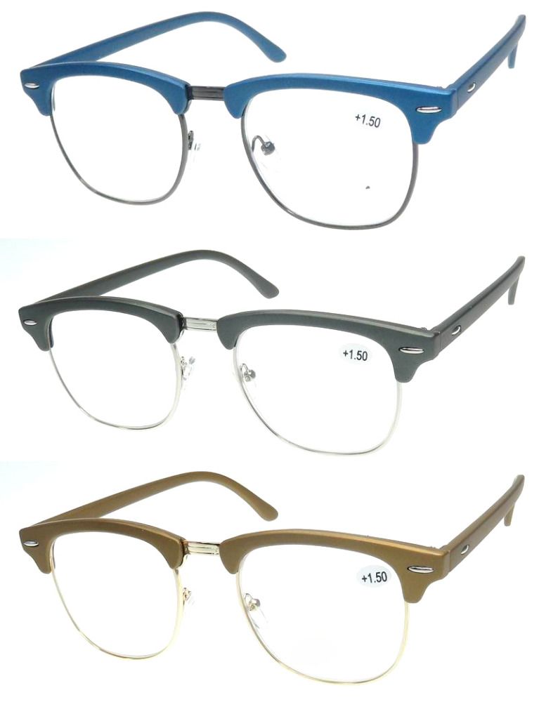 Rx5154 with Reading Lenses Size Brushed aluminum paint wood classic RB models retro metal PC reading glasses