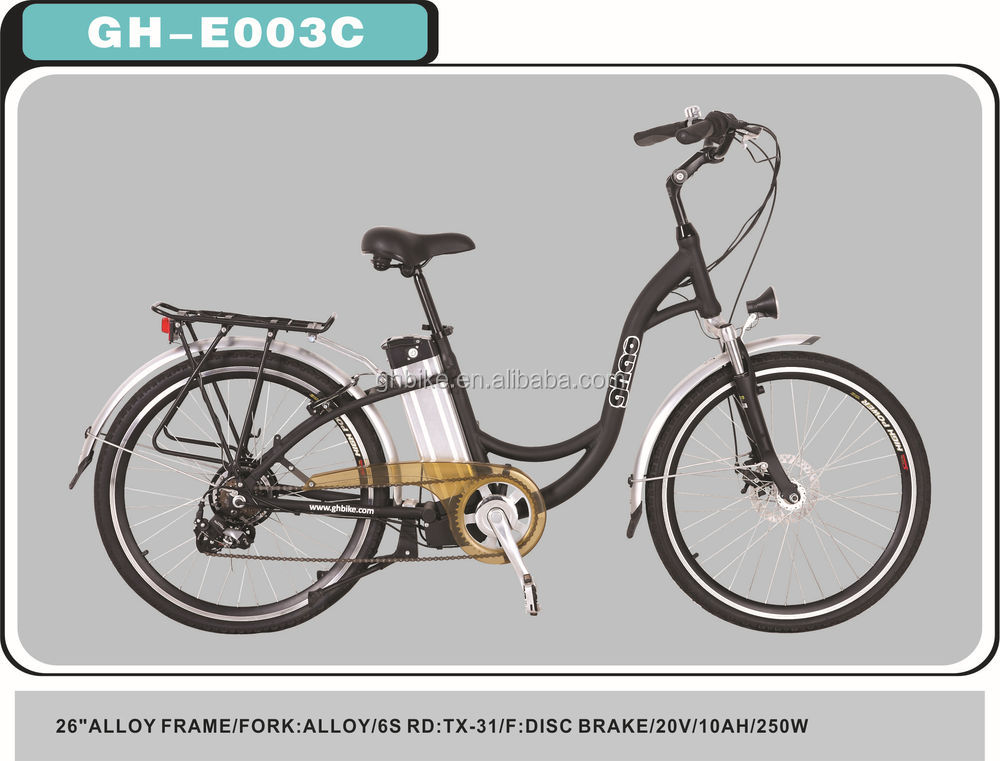 26 inch electric bicycle lithium ion battery E-bike high quality electric bike