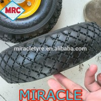 hot sale 3.00-4 260x85 4 inch rubber wheel wheelbarrow wheel