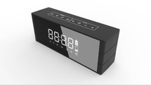10W clock mirror super bass lound sound bluetooth speaker