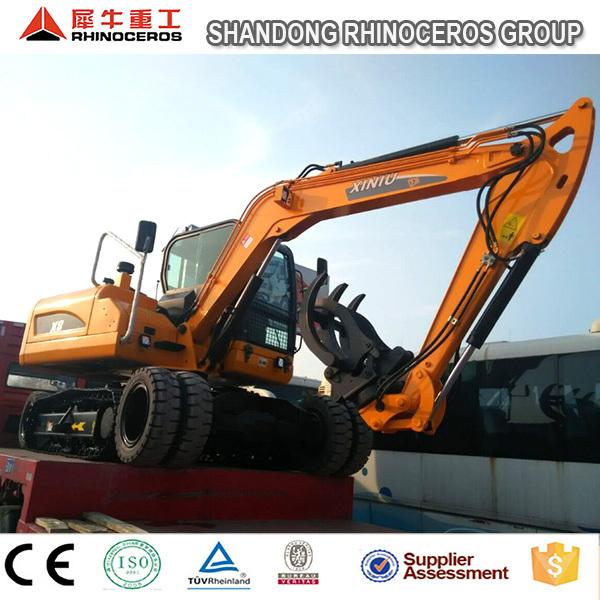 Excavator with hydraulic grapples,excavator grab,hydraulic breaker