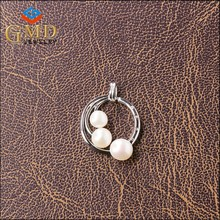 Alibaba express china custom logo charm silver 925 pendant necklace mount for pearl
