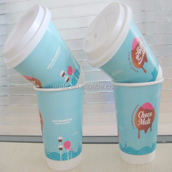 instant noodle double wall paper cup with lid white