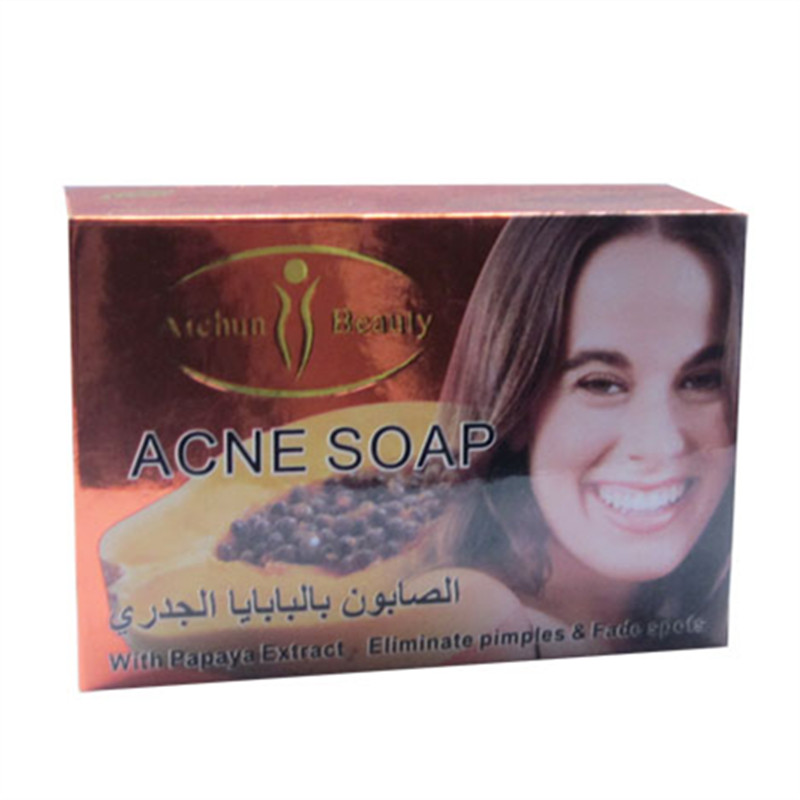 High sales face aichuen Papaya Soap papaya whitening soap