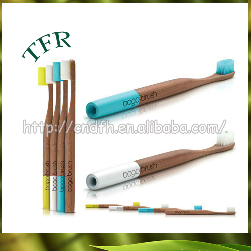 rounded custom name bristle bamboo toothbrush