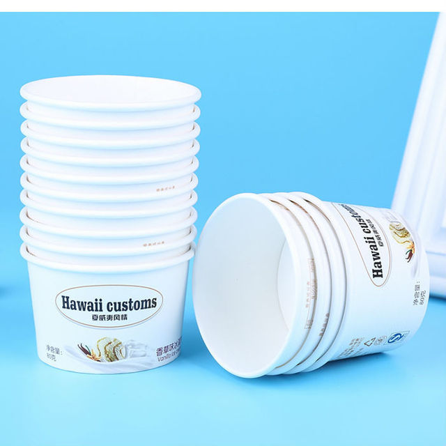 Colorful Popular Design Biodegradable Ice Cream Cup