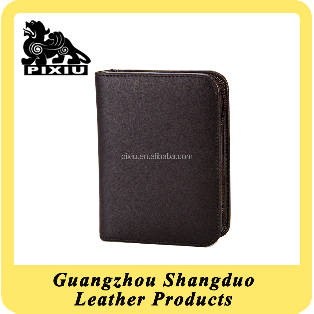 Exquisite Handmade Craft Top Brand Young Man Genuine Leather Wallet