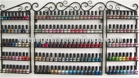 Custome made steel wall mount nail polish floor standing rack display