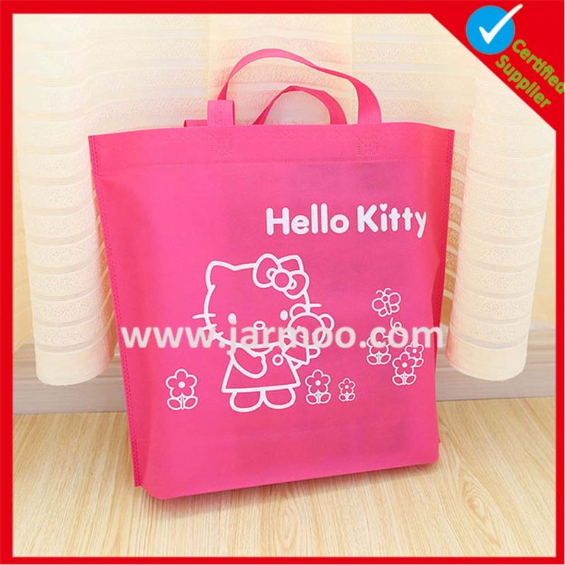 Fashion Design non woven bag with logo printed PP non woven shopping Tote bag