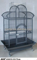 Large playtop parrot cage, metal wire parrot cage, bird cage with tray for sale