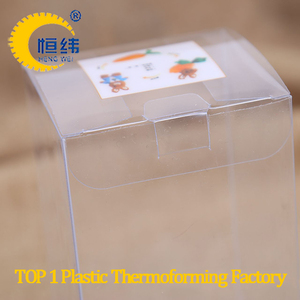 custom small folding pvc pet plastic clear transparent gift packaging box