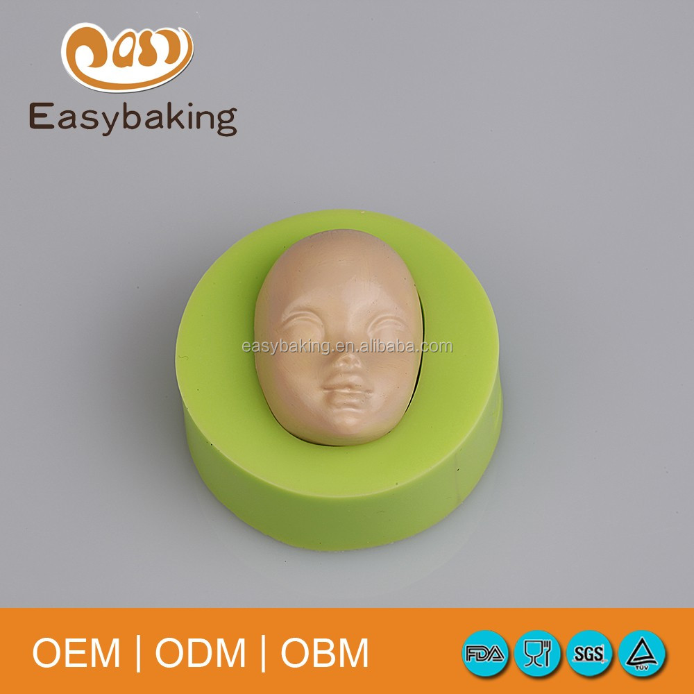 Hot Head Mask Shape Silicone Mold Fondant Cake Decorating For Halloween