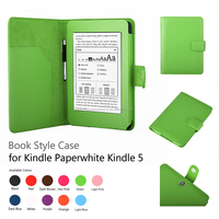 "Leather Smart Case decorative Cover Stand for New Amazon Kindle Fire HD 7"" with Sleep Wake"