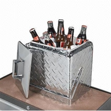 Lmetal cooler box, aluminium cooler box, diamond plate cooler box