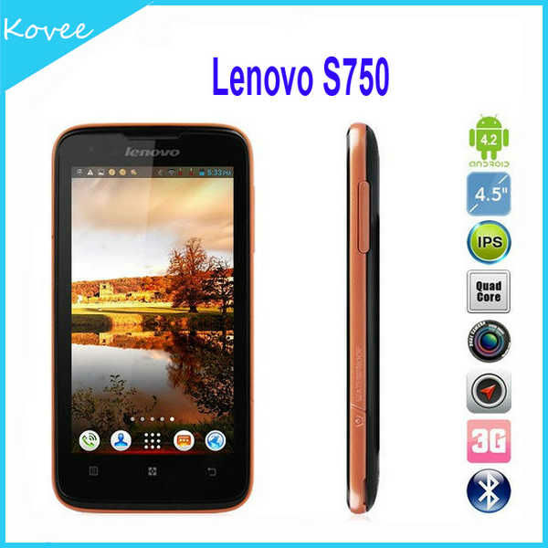 Lenovo S750 N7000 4.5inch Android 4.2.1 4 Quad Core MTK6589 1.2Ghz 3G Smartphone Android Phone WiFi GPS A GPS TV Capacitive