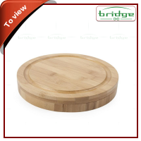 Round Special Bamboo,Cheese,Board With Knife cheese board with cover
