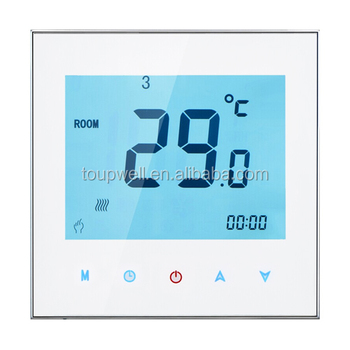 Modbus Weekly programmable Touch screen room HVAC thermostat
