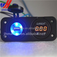 waterproof Marine/Jeep/ 4X4 DC digital voltage meter+single PANEL MOUNT 12V USB SOCKET