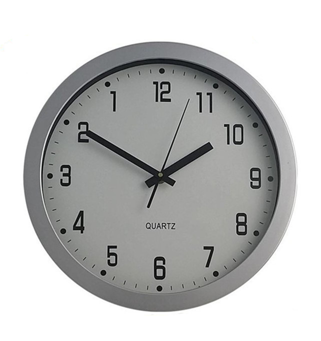 Importing quartz plastic backwards running clock