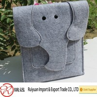 2015 Alibaba supercute and fashionable felt laptop bag with elephants design from Ruiyuan