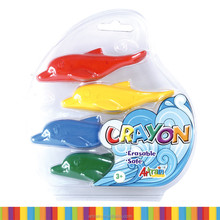 Blister Card 4 Colors Dolphin Shape Plastic Crayons