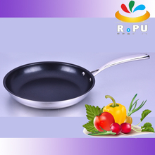 new unique design all clad stainless steel hand induction bottom pizza pan masala/steel pan