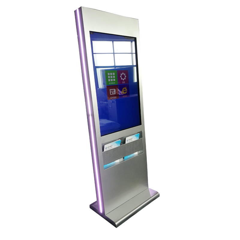 47inch multi touch screen standy kiosk with pocket brochure for AD