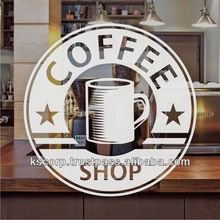 Custom Cling window for Coffee shop , Restaurant Outdoor High Quality