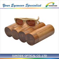 bamboo sunglasses case with black bag (CH-YZ)