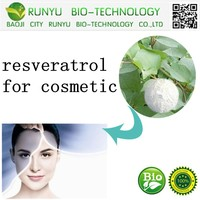100%pure plant extract material resveratrol for cosmetic