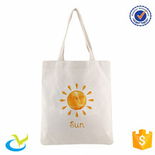 Memorial friendly plain white cotton canvas tote bag
