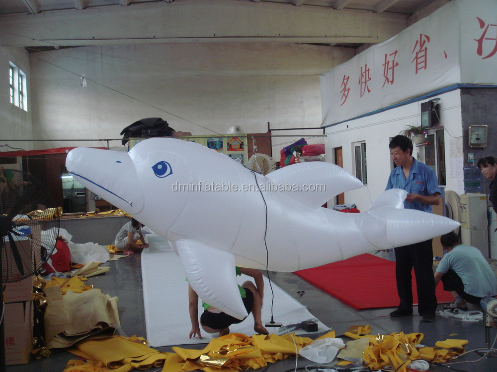 Custom made cartoon balloon, inflatable dolphin, balloon for advertising