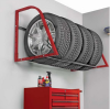 Tube light display stand frame tire wall rack