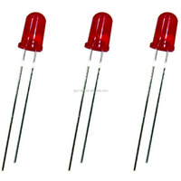 Red through hole package type 3mm / 4mm / 5mm led diode