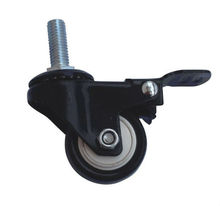 w04-50mm 3 inch rubber wheels rigid rubber escalator caster