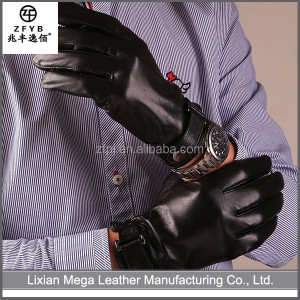 High quality cheap custom motorcycle men driving leather glove