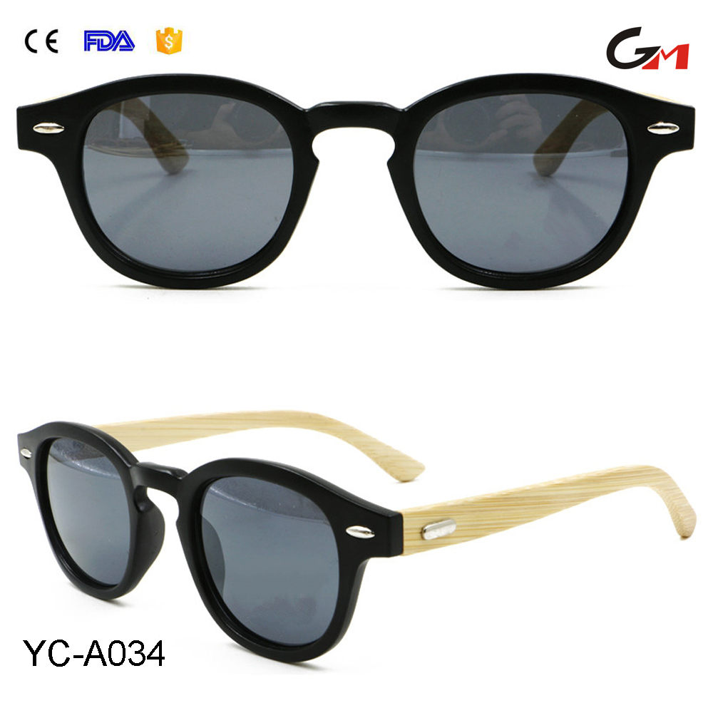 best selling comfortable good pc lens and full frame bamboo temple custom made wood sunglasses with own logo
