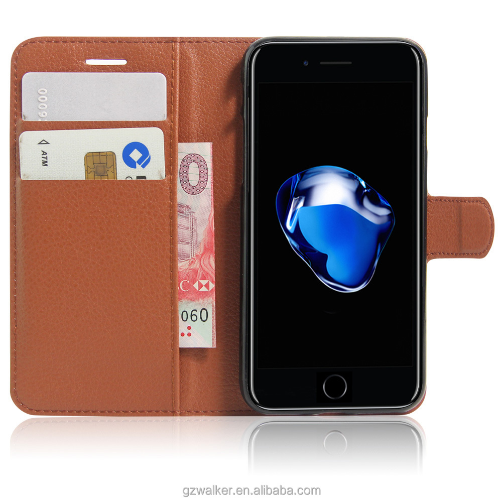 best selling wholesale price high quality PU leather wallet flip cell phone case for iphone 7 cover