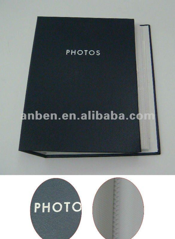 Thermal binding slip in photo album with PP pocket inner sheets