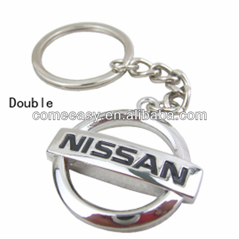 on stock with car logo NISSAN key chain
