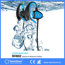 Waterproof Bluetooth 4.0 stereo Headphone with stereo sound noise reduction magnetic bluetooth earphone for iPhone 7,apple watch