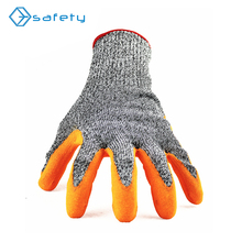 EN388 HPPE fiber knit level 5 protection cut resistant working gloves