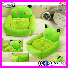 A297 New Green Frog Sofa Bed Pet Dog Cat Plush Washable Cartoon Sofa Bed