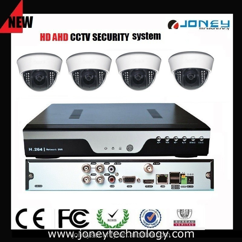 Low Cost Home 4CH 720p HD AHD DVR AHD Camera Security system