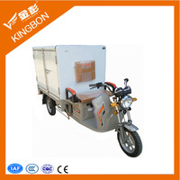 frozen cabin cargo tricycle for ice cream vegetable delivery refrigerator tricycle