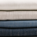 wholesale 100% linen fabric yarn dyed twill for garment