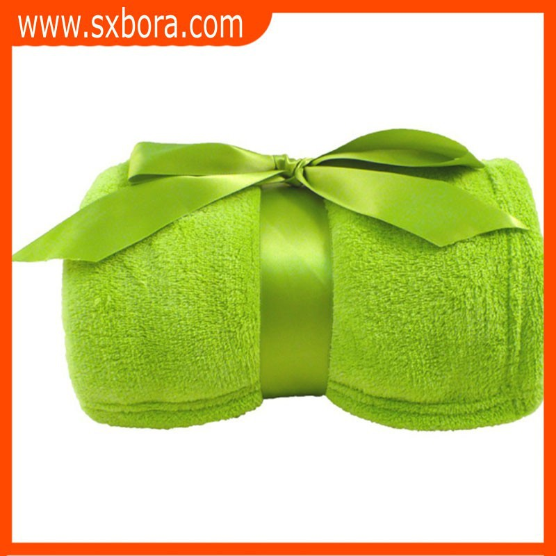 2016 sxbora shaoxing great Holiday gifts Warm and soft plush Fleece throw blankets