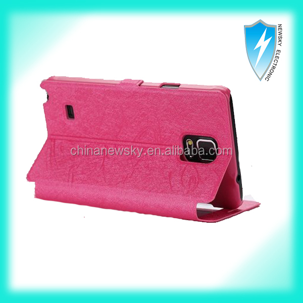 silk series pu leather wallet case for samsung galaxy note 3