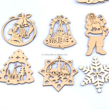 60-100mm natrual Christmas pattern wooden No Hole Buttons Scrapbooking Craft for Home decoration