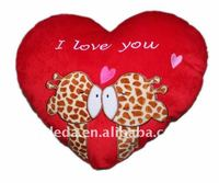 Stuffed 2012 Valentine Heart Giraffe Cushion